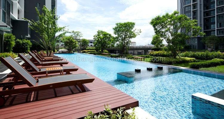 IDEO Mobi sukhumvit 81 at On Nut BTS 1 bed duplex 45 sq.m 22 floor to rent swimming pool
