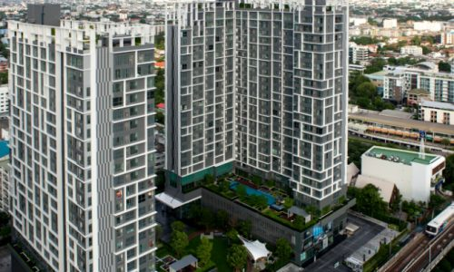 IDEO Mobi sukhumvit 81 at On Nut BTS 1 bed duplex 45 sq.m 22 floor to rent Featured