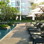 The Room Sukhumvit 62 1 bed 10 floor 45 sq.m to rent near Punnawithi BTS swimming pool bed