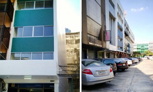 commercial townhouse for rent on Phetchaburi road 4 floors 480 sq.m