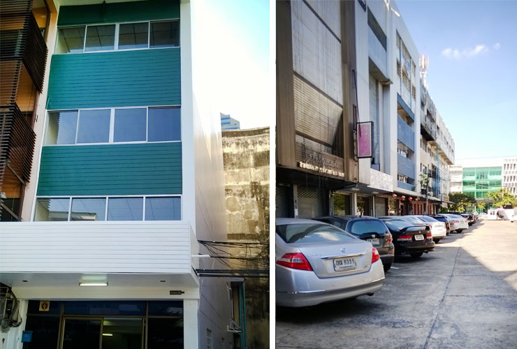 commercial townhouse for sale on Phetchaburi road 4 floors 480 sq.m