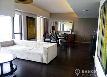 Hansar Rajdamri Luxury High Floor 2 Bed 2 Bath near BTS to rent