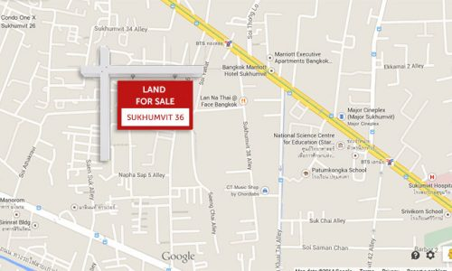 Land for sale in Sukhumvit 36 3 rai 40 sq.wah of land
