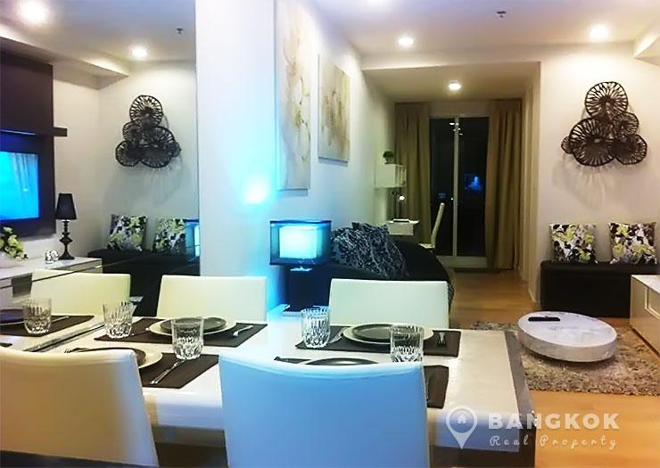 15-Sukhumvit-Residences-1-bed-near-nana-BTS-to-rent-Living-room