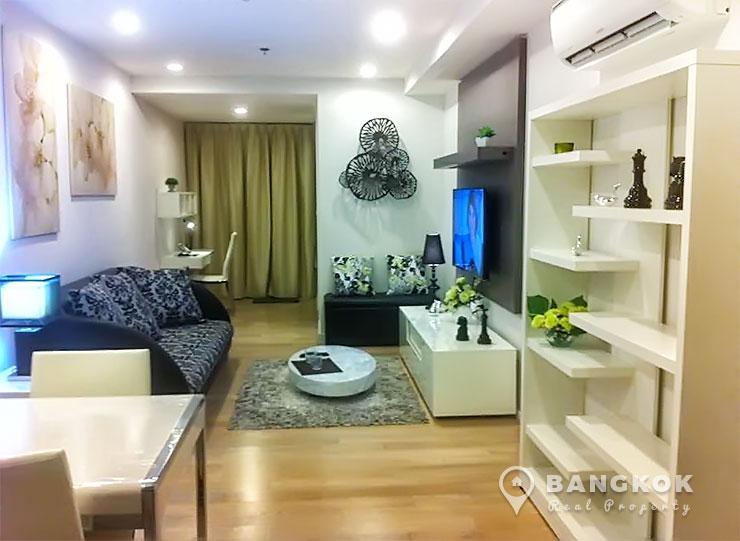 15-Sukhumvit-Residences-1-bed-near-nana-BTS-to-rent-Living