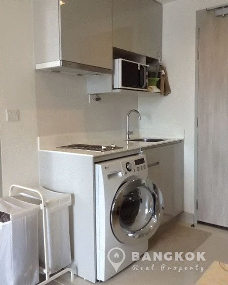 Washing machine in bedroom