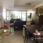 Semi Detached House for Rent in Ekamai 3 bed 3 bath 1 maid with shared swimming pool near BTS