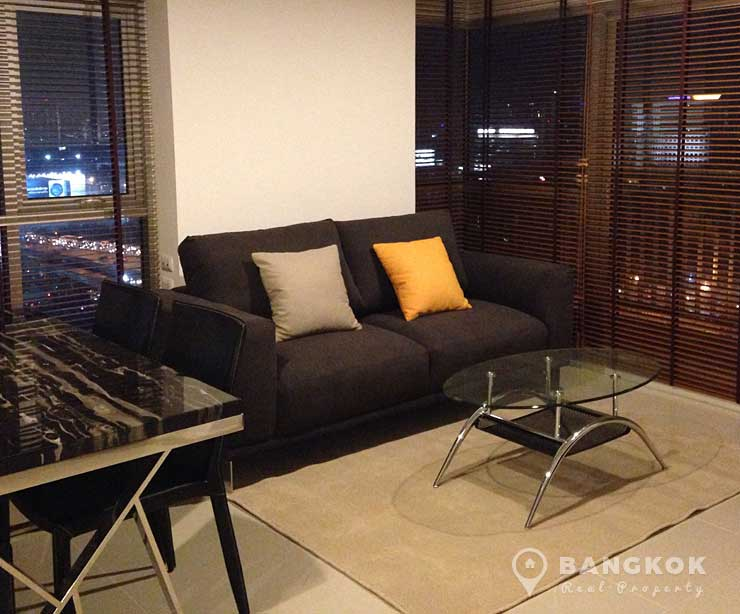 Aspire Rama 9 Modern High Floor 2 Bed 2 Bath near MRT to rent