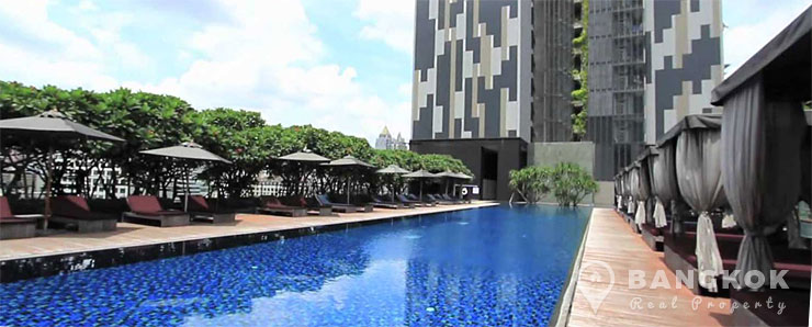 The Met Stylish Unfurnished 2 Bed 2 Bath Condo in Sathorn to rent