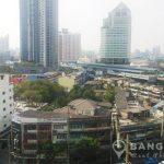 Sukhumvit plus studio 30 sq.m high floor to rent near BTS