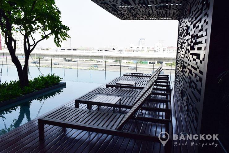 TEAL Sathorn Taksin Modern High Floor 1 Bed Condo at BTS for sale