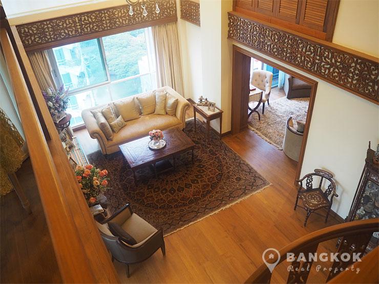 The Rajdamri | Stunning Thai Inspired 3 Bed Duplex Penthouse photo