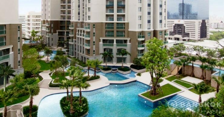 Belle Grand Rama 9 Brand New Modern 2 Bed 2 Bath near MRT to rent