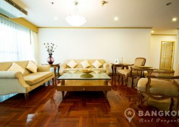 Centrally Located Spacious 3 Bed 4 Bath Phrom Phong Apartment to rent