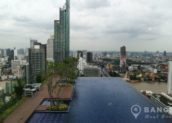 Urbano Absolute Sathon Taksin Modern Studio with River Views to rent