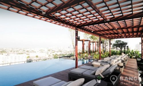 IDEO Mix Sukhumvit 103 Modern High Floor Studio next to BTS Udomsuk to rent