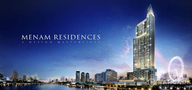 Menam Residences Brand New 5 Star Luxury 1 Bed overlooking the River to rent