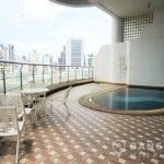 Le Raffine Sukhumvit 24 Spacious Duplex 3 +1 Bed 4 Bath with Private Pool to Rent