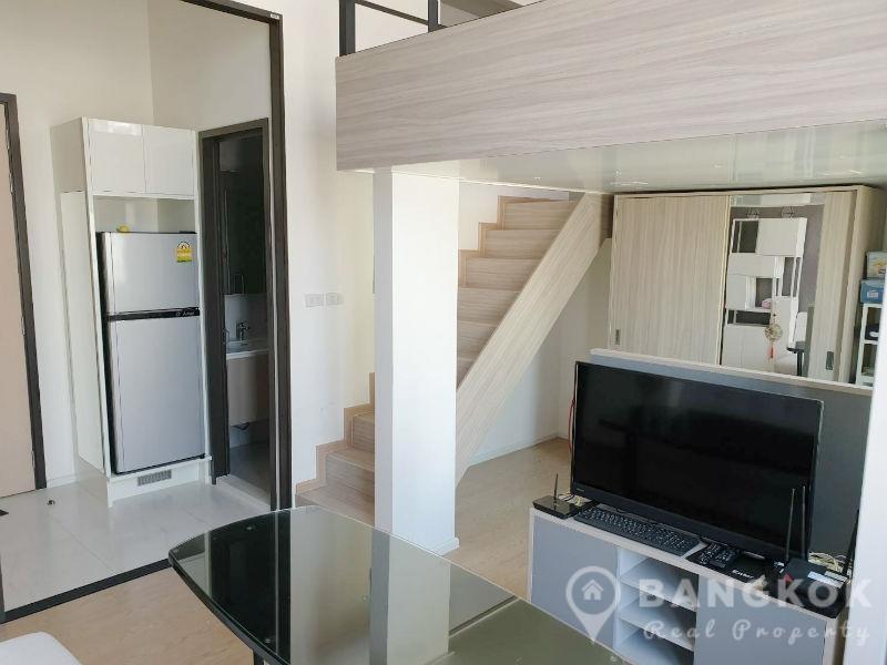 RENT Chewathai Residence Asoke Duplex Loft Style 1 Bed near Phra Ram 9 MRT
