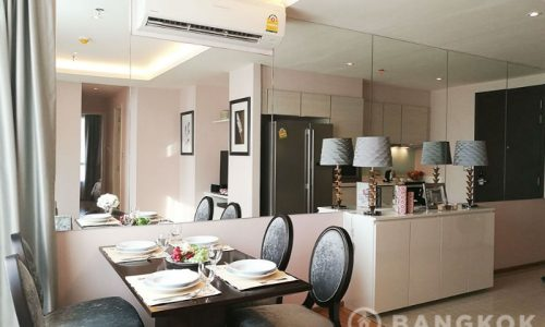 RENT H Sukhumvit 43 Modern 2 Bed 2 Bath near EM District + Phrom Phong BTS