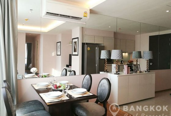 RENT H Sukhumvit 43 Modern 2 Bed 2 Bath near EM District + Phrom Phong BTS