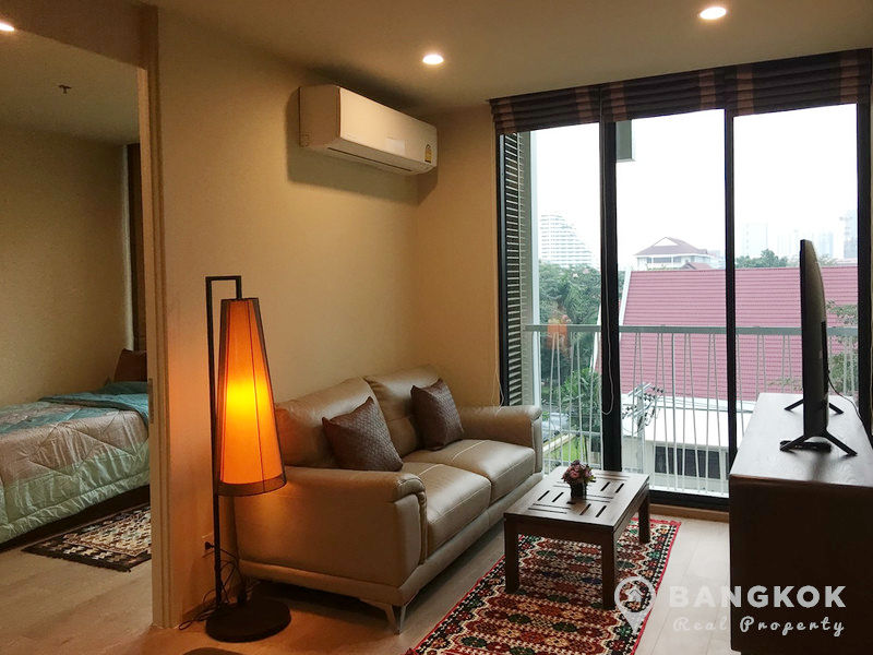 RENT Noble Recole Sukhumvit 19 Modern 2 Bed 2 Bath 63 sq.m Garden View near Terminal 21