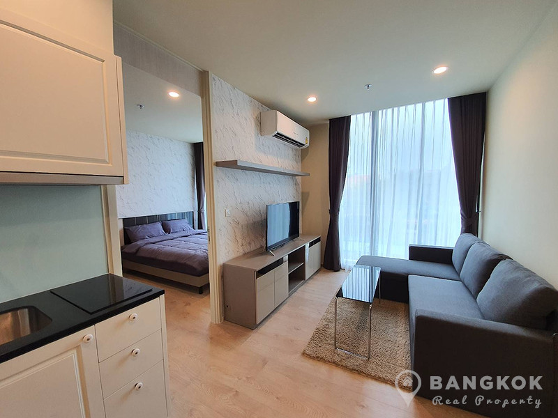 RENT Noble Recole Sukhumvit 19 Modern 1 Bed 1 Bath with Garden View near Asok BTS