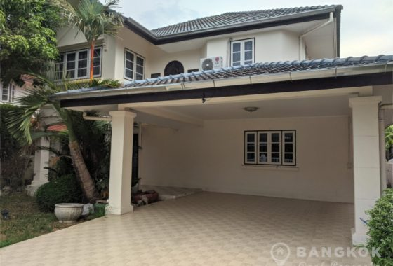 RENT Sammakorn Village Ramkhamhaeng Detached House 3 bed 1 study 3 bath with mature Garden