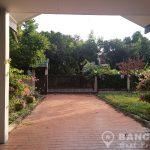 RENT Sammakorn Village Ramkhamhaeng Detached 4 bed 1 study 3 bath 1 maid house with large garden