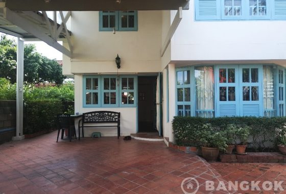 RENT Sammakorn Village Ramkhamhaeng Detached 3 Bed 3 Bath House with garden